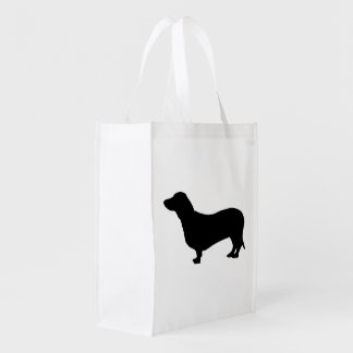 Dachshund dog black silhouette cute