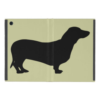 Dachshund dog black silhouette cute doxie iPad mini cover
