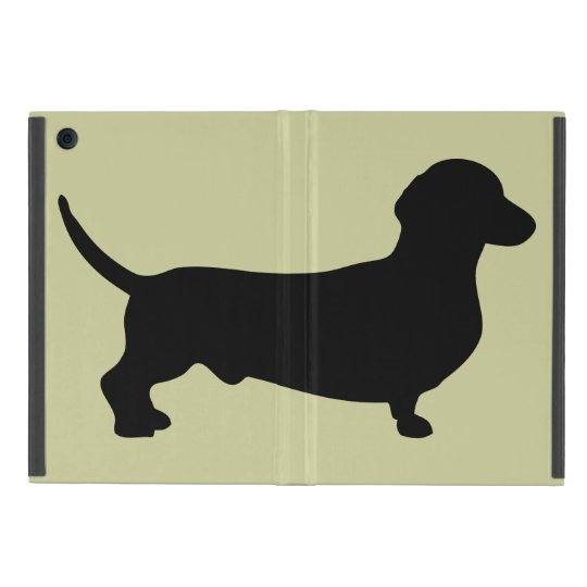 Dachshund dog black silhouette cute doxie iPad mini
