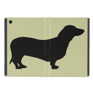 Dachshund dog black silhouette cute doxie iPad mini covers