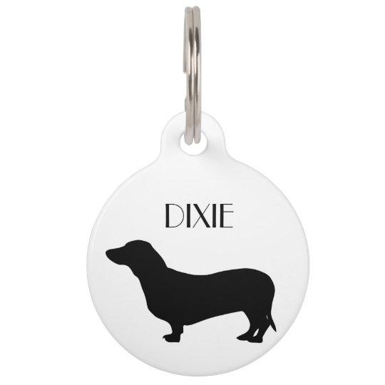 Dachshund dog custom dog name, phone number pet