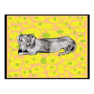 Dachshund Dog Greeting Card Postcard