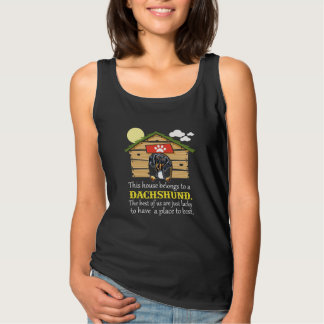 Dachshund Dog House Tank Top