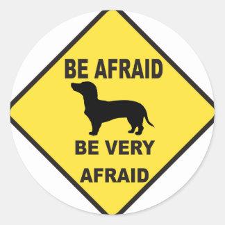 Dachshund Dog Humorous Classic Round Sticker