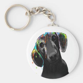 Dachshund Dog Basic Round Button Key Ring