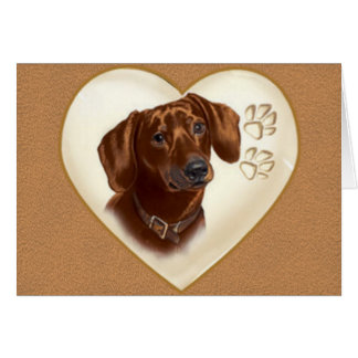 Dachshund Dog Note card, Thank you cards