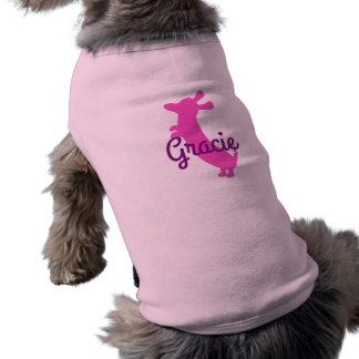 Dachshund dog on hind legs pet shirt