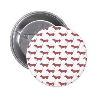 Dachshund Dog Polka Dot Pattern 6 Cm Round Badge