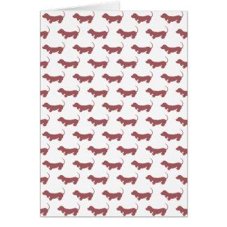 Dachshund Dog Polka Dot Pattern Card