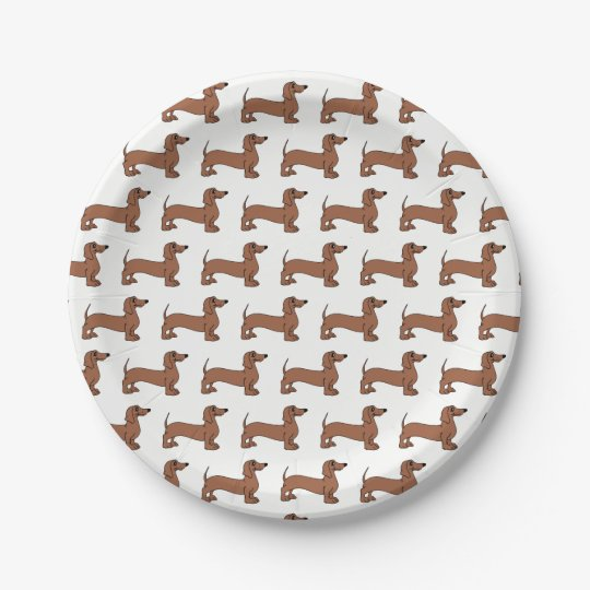 Dachshund Dog Puppy Party Paper Plates