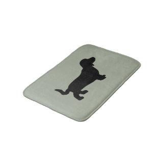 Dachshund Dog Silhouette Bath Mat