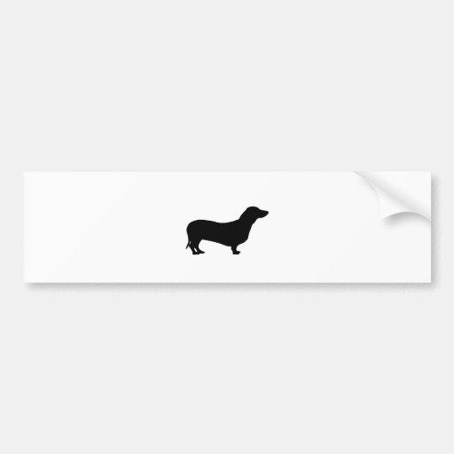 Dachshund dog silhouette bumper sticker car bumper sticker | Zazzle