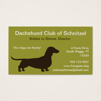 Dachshund Dog Silhouette Business Card