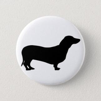 Dachshund dog silhouette button / badge