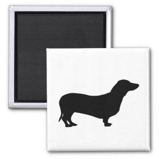 Dachshund dog silhouette magnet, gift idea magnet