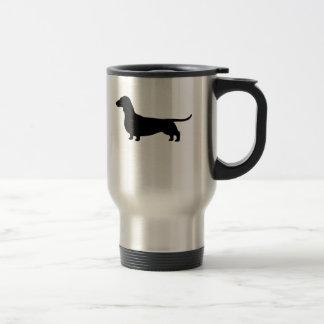 Dachshund Dog Silhouette Stainless Steel Travel Mug