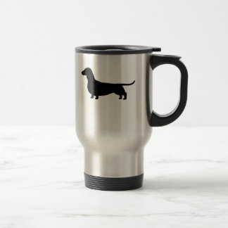 Dachshund Dog Silhouette Travel Mug
