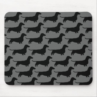 Dachshund Dog Silhouettes Mouse Mat