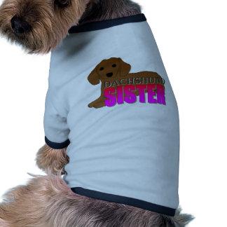 Dachshund Dog Sister Pet Clothing