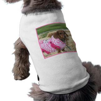 Dachshund dog sleeveless dog shirt
