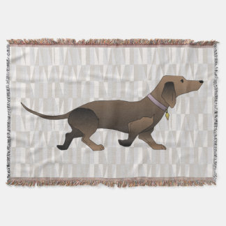 dachshund dog throw blanket