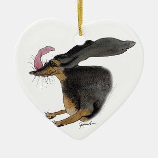 Dachshund dog, tony fernandes ceramic heart decoration
