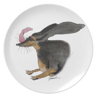 Dachshund dog, tony fernandes plate