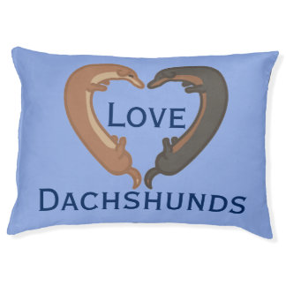 Dachshund dogs love heart pet pillow bed