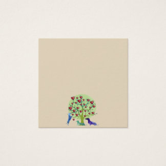 Dachshund Dogs Tree Hearts Art Standard Notes Square Business Card