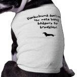 Dachshund Don't Care Dog Tshirt