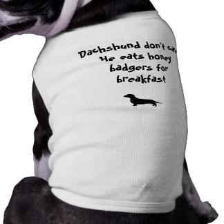 Dachshund Don't Care Sleeveless Dog Shirt