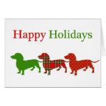 Dachshund Doxie Christmas Card