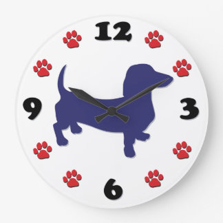 Dachshund Doxie Large Clock