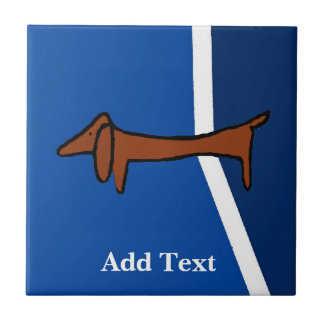 Dachshund  Dutch Look, Personalize Tile