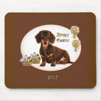 Dachshund Easter Mousepad