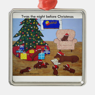 Dachshund Family Christmas Ornament