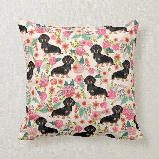 Dachshund florals print pillow cute dog gift