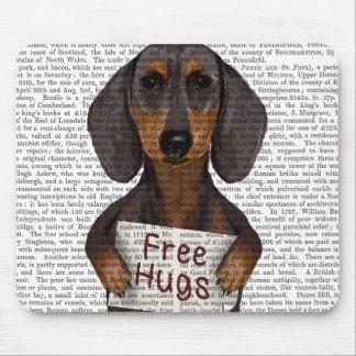 Dachshund Free Hugs Mouse Mat