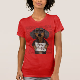 Dachshund Free Hugs T-Shirt