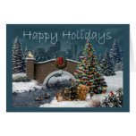 Dachshund Gang Christmas Card Evening4