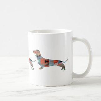 Dachshund Geometric Pattern Silhouette Coffee Mug