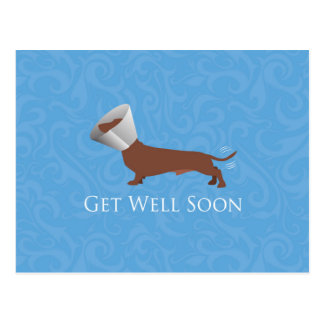 Dachshund - Get Well Soon Postcard