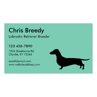 Dachshund Gifts Double-Sided Standard Business Cards (Pack Of 100)