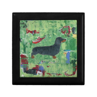 Dachshund Gifts Wiener Dog Modern Abstract Art Small Square Gift Box