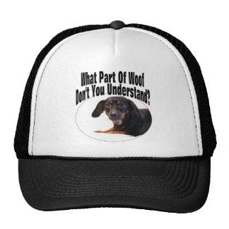 Dachshund Gifts - Woof Cap