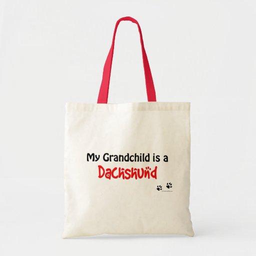 Dachshund Grandchild Tote Bags