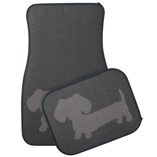 Dachshund Grey Car Floor Mats Wiener Dog
