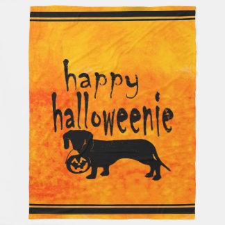 Dachshund Halloween Blanket Halloweenie
