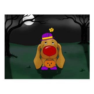 Dachshund Halloween Postcard