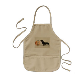Dachshund Halloween Surprise Apron